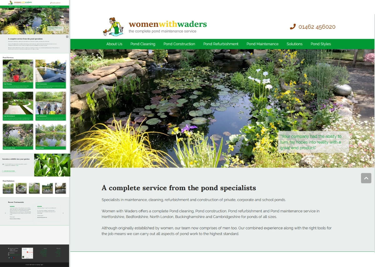 Completed Website Project: Women with Waders
